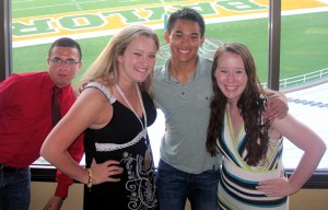Baylor freshman Kevin Signo with friends at Line Camp last summer