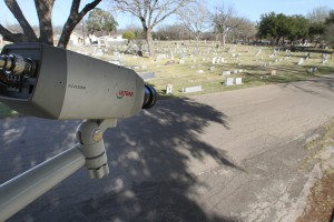 Security camera at Oakwood Cemetery - Taken by Matt Hellman